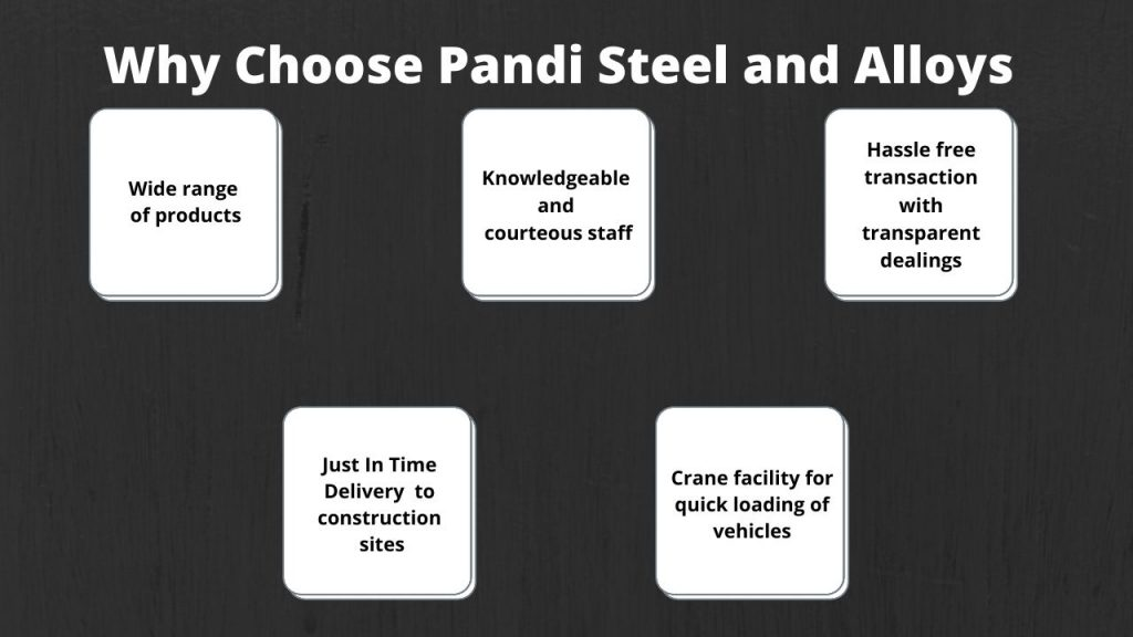 Pandi Steel and Alloys Pvt Ltd Madurai. Major steel supplier for leading industry pioneers